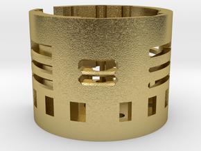 Nano biscotte V3 +v4 holder  in Natural Brass