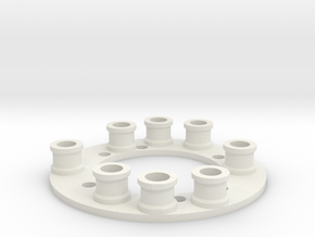 Battery Spacer in White Natural Versatile Plastic