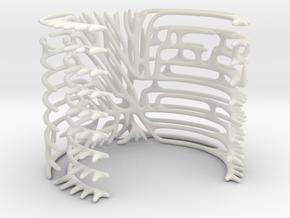 Circuit Bracelet  in White Natural Versatile Plastic