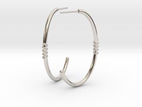 Ellipse Earrings in Rhodium Plated Brass