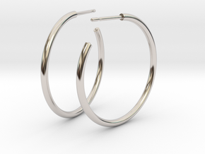 Self Hoops in Rhodium Plated Brass