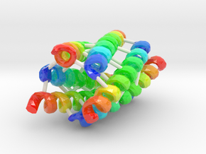 Coiled-Coil Hexamer (Large) in Glossy Full Color Sandstone