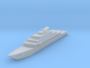 Miniature Rising Sun Yacht - 10cm in Smooth Fine Detail Plastic