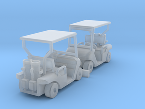 1:100 Golf cart x2, kit in Smooth Fine Detail Plastic