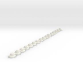 16 Support/Halter Carrera Digital Decoder Chip 132 in White Natural Versatile Plastic