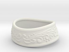 Paladin bracelet in White Natural Versatile Plastic: Extra Small