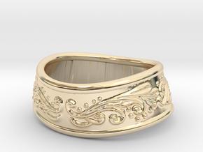 Paladin bracelet in 14k Gold Plated Brass: Extra Small