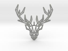 Deer Pendant in Gray Professional Plastic