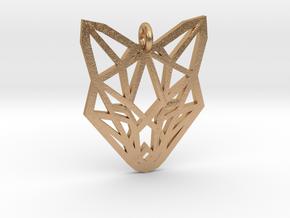 Fox Pendant in Natural Bronze