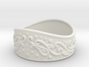 Knight bracelet in White Natural Versatile Plastic: Extra Small
