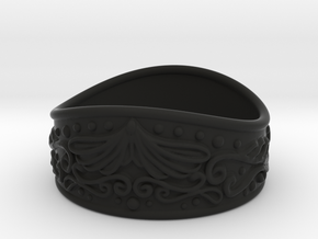 Knight bracelet in Black Natural Versatile Plastic: Small
