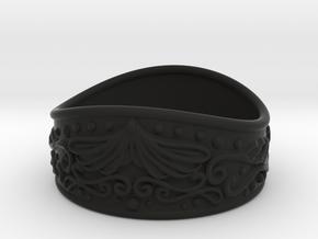 Knight bracelet in Black Natural Versatile Plastic: Small