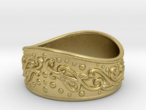 Knight bracelet in Natural Brass: Large