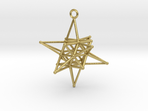 Stellated Vector Equilibrium - Spirits Guiding Sta in Natural Brass