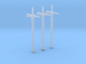 Diablo warhammers for 28mm/35mm minis - 3 pieces in Smooth Fine Detail Plastic