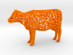 Cow in Orange Processed Versatile Plastic