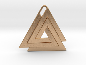 Valknut Pendant - Viking Symbol  in Natural Bronze