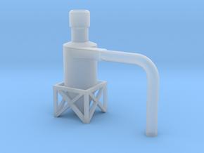 Dachzyklonfilter V2 flach 1:120 in Smooth Fine Detail Plastic