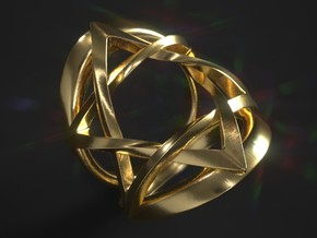Ring Magen David Size 6 in 18k Gold Plated Brass