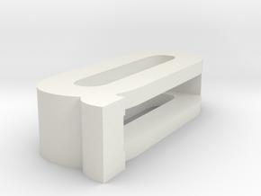 CHOKER SLIDE LETTER Q 1⅛, 1¼, 1½, 1¾, 2 inch sizes in White Natural Versatile Plastic: Extra Small