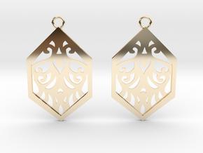 Aaricia earrings in 14k Gold Plated Brass: Small