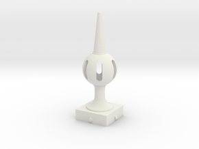 Signal Finial (Pierced Ball) 1:24 scale in White Natural Versatile Plastic