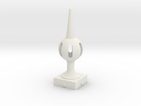 Signal Finial (Pierced Ball) 1:22.5 scale in White Natural Versatile Plastic
