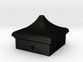 Signal Finial (Square Cap) 1:6 scale in Matte Black Steel