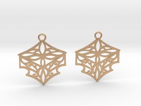 Adalina earrings in Natural Bronze: Small