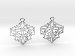 Adalina earrings in Natural Silver: Small