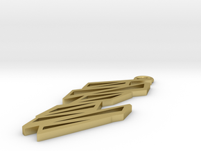 Zigzag pendant in Natural Brass: Small
