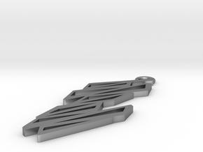 Zigzag pendant in Natural Silver: Small