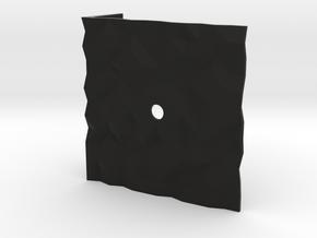 Texture clock in Black Natural Versatile Plastic