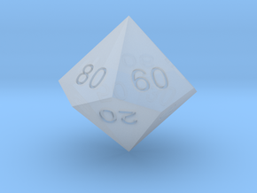 ENUMERATED PERCENTILE PENTAGONAL TRAPEZOHEDRON in Smooth Fine Detail Plastic