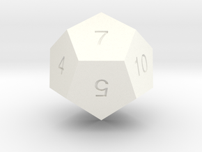 ENUMERATED DODECAHEDRON in White Processed Versatile Plastic
