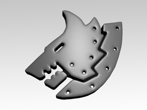 Metal Wolf Shoulder Icons x50 in Smooth Fine Detail Plastic