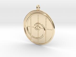 Mathematics Symbol  in 14K Yellow Gold