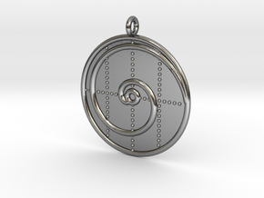 Mathematics Symbol  in Polished Silver