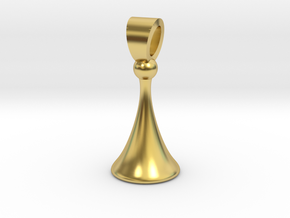 Old style pawn [pendant] in Polished Brass
