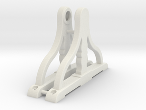 Ship's Wheel Supports 1:24 scale in White Natural Versatile Plastic