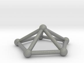 0723 J02 Pentagonal Pyramid V&E (a=1cm) #2 in Gray PA12