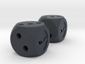 Lucky Dice in Black Professional Plastic