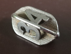 D4 Barrel/Crystal Style - Plunged Sides Dice in Polished Bronzed-Silver Steel