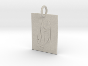 Mother Mary and Baby Christ in Natural Sandstone: Large