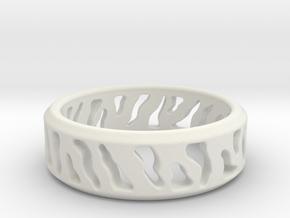 Tiger Stripe Ring in White Natural Versatile Plastic: 5 / 49