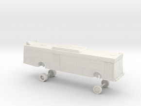 HO Scale Bus New Flyer D40LF Septa 5700s-5900s in White Natural Versatile Plastic