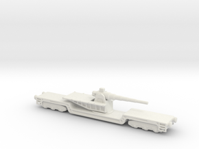 17 cm kanone eisenbahnlafette 1/200  artillery  in White Natural Versatile Plastic