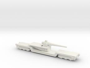 17 cm kanone eisenbahnlafette 1/285 artillery  in White Natural Versatile Plastic
