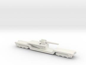 15 cm kanone eisenbahnlafette 1/285 artillery  in White Natural Versatile Plastic