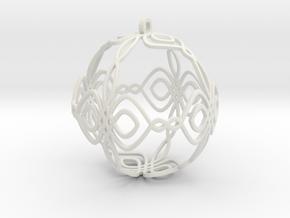 Celtic Knot Ornament in White Natural Versatile Plastic